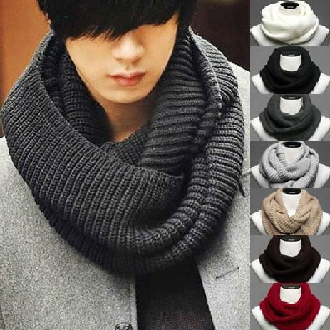 New Style Fashion Men Knitting Wool Scarf Neckerchief Free Shipping Hot Sale(China (Mainland))