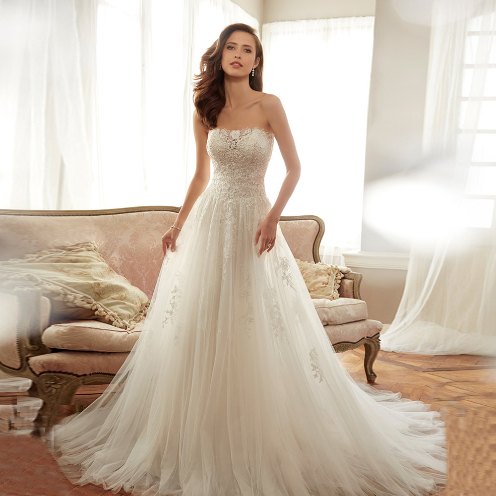 Buy hot selling strapless bridal wedding for Selling your wedding dress