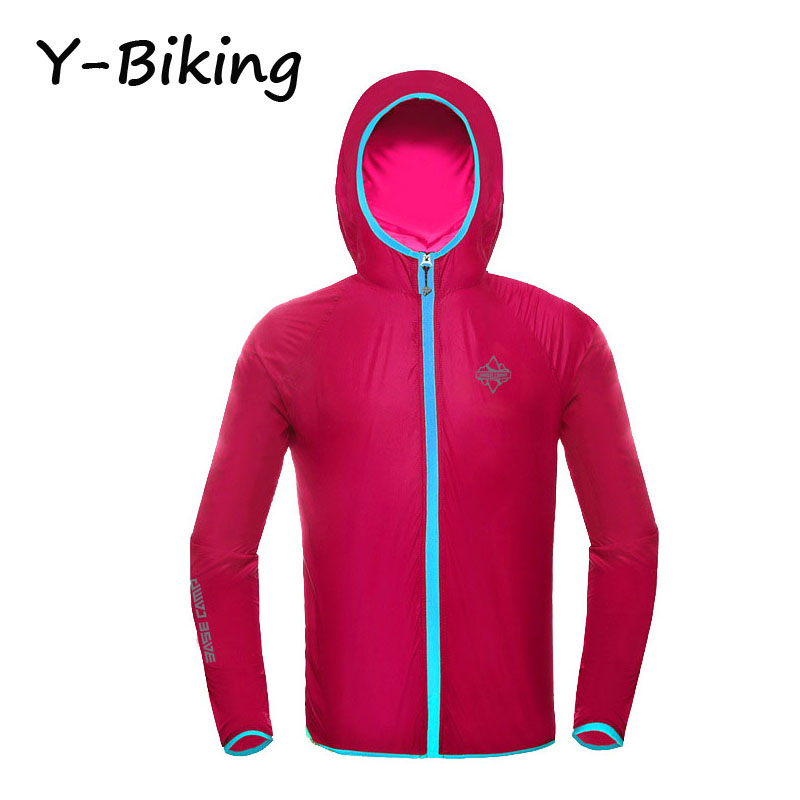 Brand New Long Sleeve Cycling Jacket Skin Coat Sportswear Windproof Anti-UV Outdoor Cycling Running Jersey YB-BSK-04(China (Mainland))
