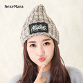 2016 High Quality Warm cotton Caps Knitted Beanies Hat Infinity Scarf Winter Skullies Cap For Woman and Men
