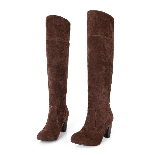 aliexpress buy size 34 43 fashion winter knee boots