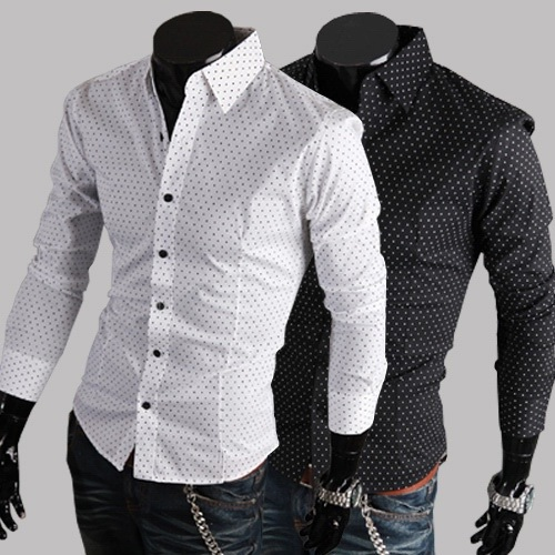 Online Get Cheap Black Dress Shirt White Dots -Aliexpress.com ...