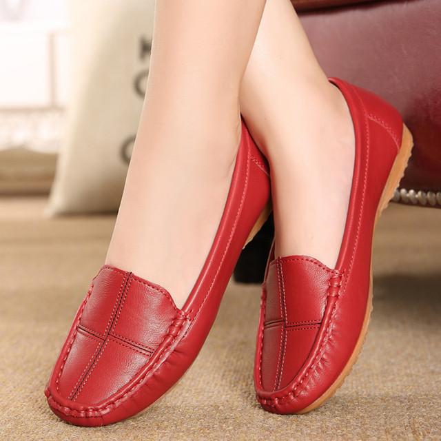 Бесплатная доставка кожаные ботинки среднего возраста матери обувь сухожилия в конце ...