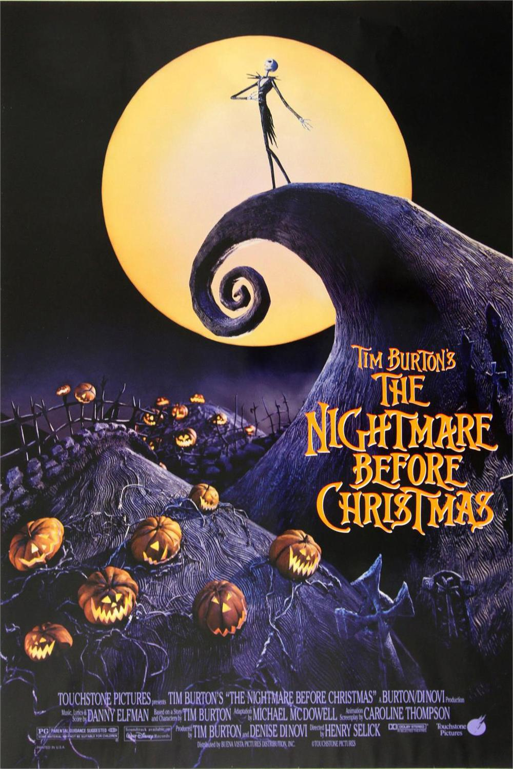 Tim Burton's The Nightmare Before Christmas Movie Classic Poster Home Decoration Art Silk -High quality Picture Print 24x36 inch(China (Mainland))