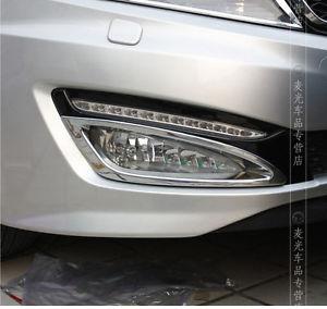 Accessories 2PCS FOR 2011 2012 2013 KIA OPTIMA K5 FRONT BUMPER FOG LIGHT CAP CHROME COVER TRIM(China (Mainland))