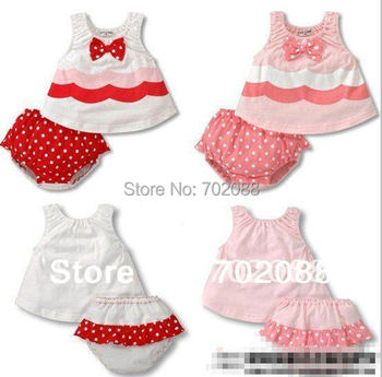 Retail clearance sale Harness dress+pants girls suits Spaghetti strap dress+Bread pants baby clothings
