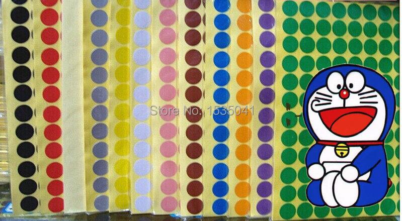 Etiquetas Circulares de Colores Circular Color Etiqueta de
