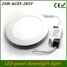 Ultra Thin 25W Led Panel Downlight Round Ceiling Recessed Grid Spot Light AC85-265V Panel lamp Indoor Lighting free shipping(China (Mainland))