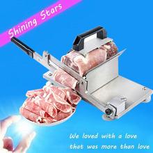 Руководство резки резки мяса, Резак баранина ролл полностью из нержавеющей стали и коммерческий измельченных ломтики нарезанный мясо строгальный станок