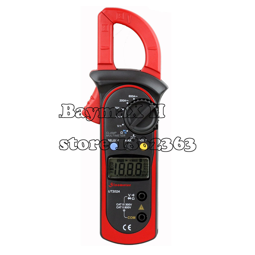 Uni-Trend Uni-t UT202A AC/DC Voltmeter and AC 600 AMPS Meter Auto/Manual Range Digital Handheld Clamp Meter  AC DC Test Tool<br><br>Aliexpress