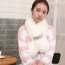 Fur Scarf Luxury Brand Winter Scarves 2016 Korean Echarpe Women Bufandas Christmas Warm Designer Scarf Fur Collar Fashion Kawaii(China (Mainland))