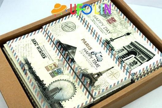 D36-101 Free Shipping/New happy time in paris memo/Notepad/Memo/Paper notebook/note book/Fashion Gift/Wholesale