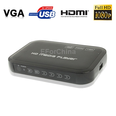 Free Shipping 1080P HD Media Player, Support SD/MMC Cards(China (Mainland))