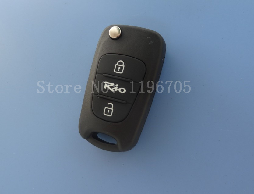 Free Shipping  Flip Remote Keyless Entry Key CASE Shell 3 Button For KIA Rio Remote key<br><br>Aliexpress