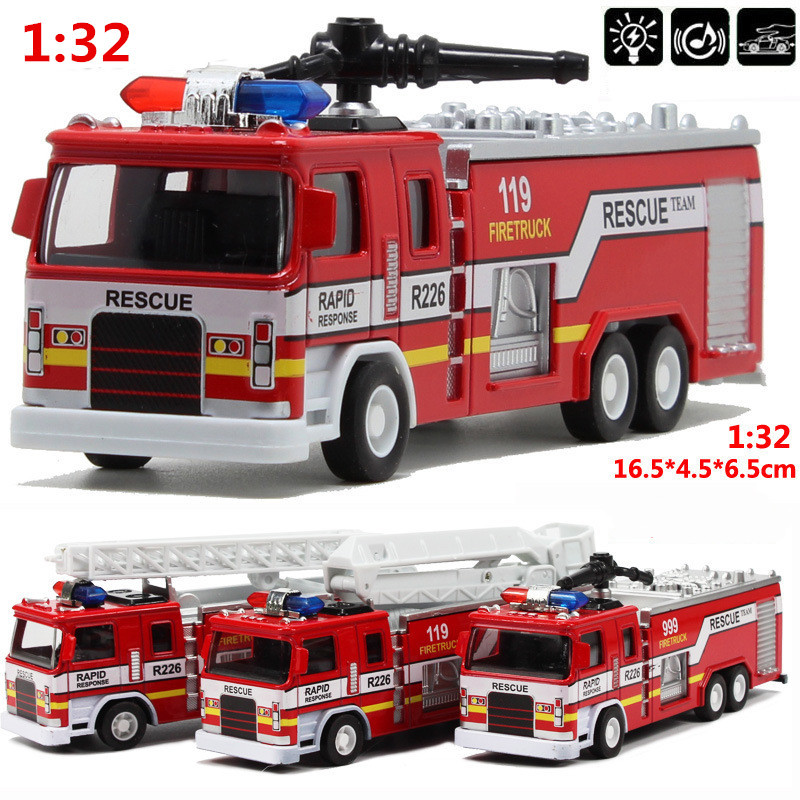 Mini 1:32 scale alloy construction vehicles, pull back model toys cars,Fire truck,Diecast car,free shipping(China (Mainland))