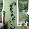 Vinyl Removable Black Flowers Blossom Vine Wall Sticker Mural Decal Home Living Room Decor delightful