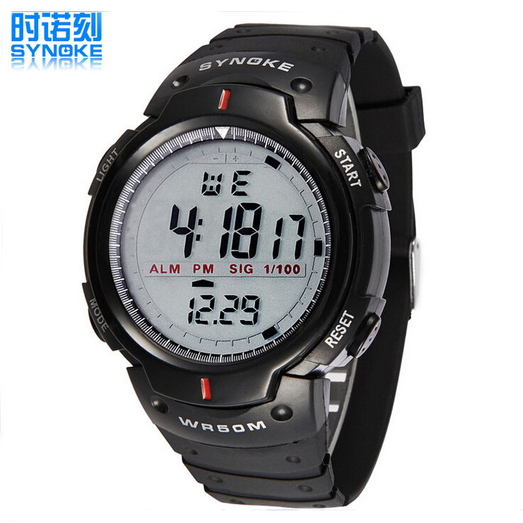 SYNOKE Brand Men Outdoor Sports Watch Fashion LED Digital Military Watches Alarm Swim Casual Wristwatches New Hours(China (Mainland))