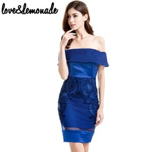Buy Love&Lemonade Sexy Strapless Lace Dress Collar Blue TB 9685 for $35.99 in AliExpress store