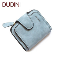 Hot sale High Quality Women Wallets Ladies Small Wallet Vintage Nubuck Leather Zip Fastener Coin Purse Female Credit Card Purse(China (Mainland))