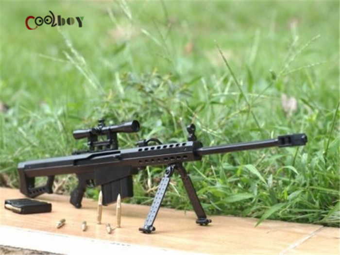 1:6 Scale Metal Toy Gun Barrett M82A1 Sniper Rifle Dismountable Brinquedos Toys Building Kits Cosplay Guns Gift - Top & Hobbies Co.,Ltd store