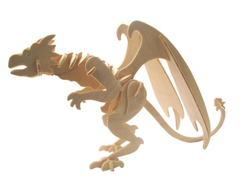 3D puzzle animal Dragon Guhyapada puzzles wooden puzzle educational toys classic toys 30*10*16cm wholesale(China (Mainland))