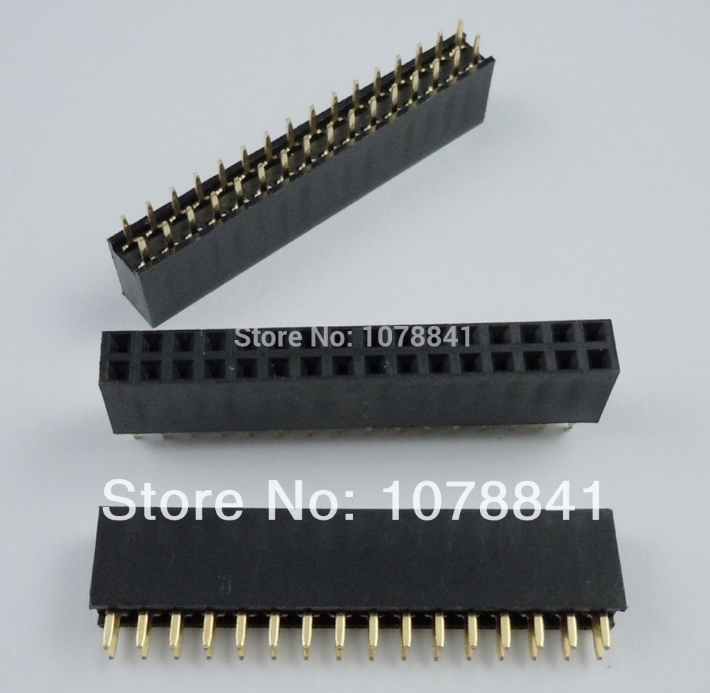 100 Pcs Per Lot Pitch 2.54mm 2x16 Pin 32 Pin Female Double Row Straight Pin Header Strip от Aliexpress INT