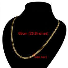 Szyi ciężki złoty łańcuch dla mężczyzn duże długie naszyjniki mężczyzna złoty kolor Hiphop ze stali nierdzewnej łańcuch kubański naszyjnik 2017 Collares(China)