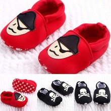 0-12M Toddler Baby Girls Boys Skull Pirate Printed Casual Shoes Soft Sole First Walkers Free Shipping