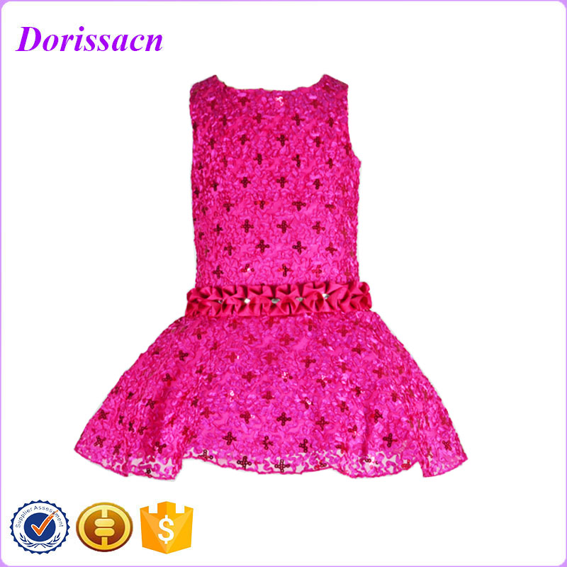 top quality fuchsia small girls sequin dress child kids costume clothing kids party dresses for girls<br><br>Aliexpress