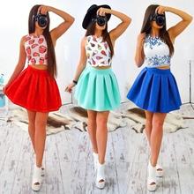 Buy Fashion Boho Dress Women 2017 Summer Beach Sleeveless Casual Dresses Party Short Mini Dress Two Piece Women Clothes for $7.91 in AliExpress store