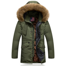 Newest 2016 Men's Winter Jackets and Coats Wool Rich Hooded White Duck Down Coat Long Warm Brand Design Jaqueta Masculina T602(China (Mainland))