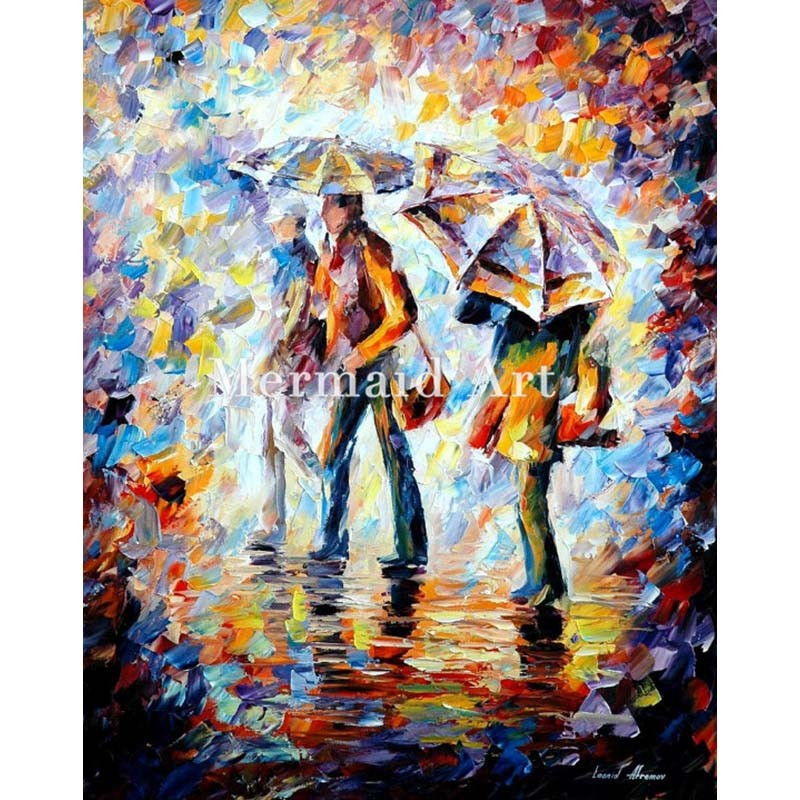 Buy Hand Painted Landscape High Quality Abstract Palette Knife Barack Obama Oil Painting Canvas Decoration Living Room Artwork Fine cheap