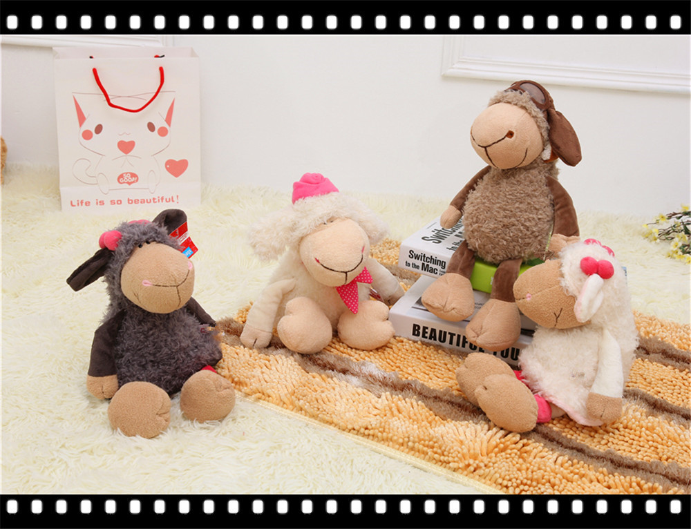 Plush toy doll Alpaca wearing sheep manufacturers selling package mail direct sale bag(China (Mainland))