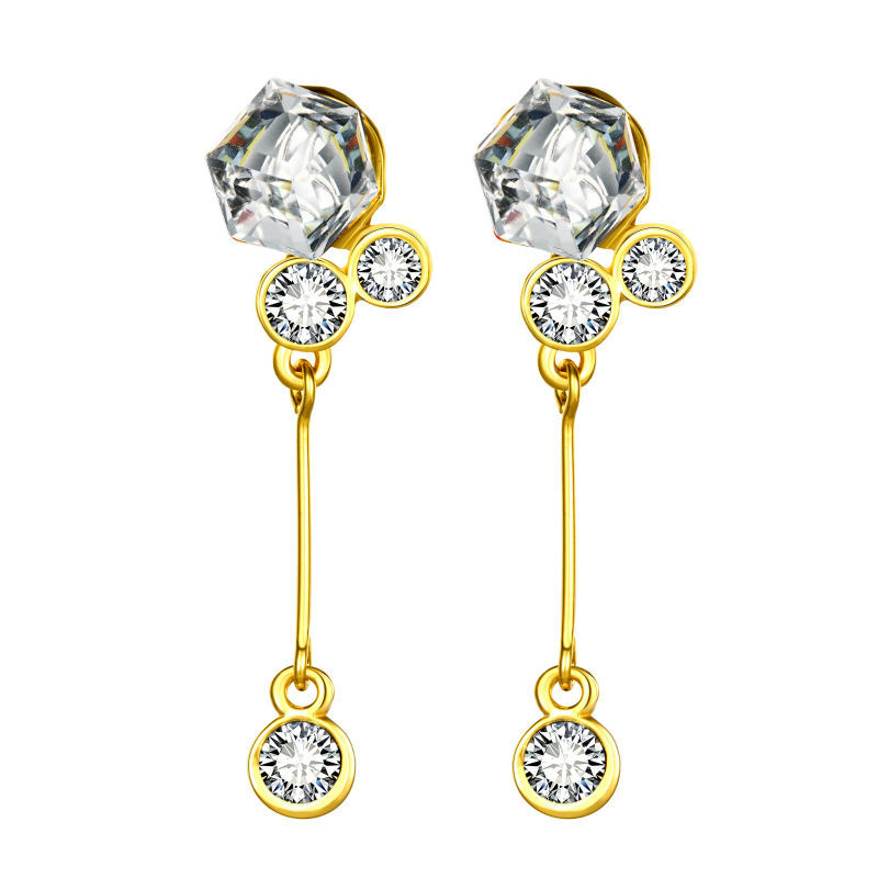 Buy 2015 New Fashion Style Charm Jewelry 18k Gold Plated Drop Earrings