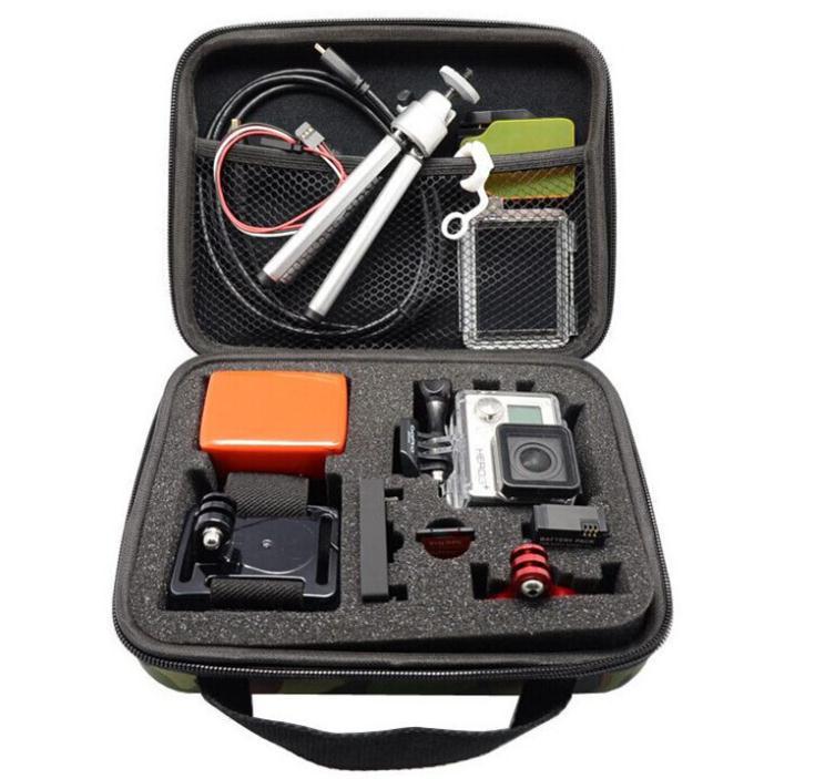 Gopro Camera Middle Storage Box Travel Shockproof portable Camouflage color case for Go Pro Hero 3+/3/2 Camera Medium Bag()