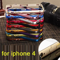 Free shipping for iphone 4 Case Cover Luxury Brand Pure Hard Metal Frame Bumper For iPhone