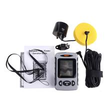 Portable LCD Sonar Fish Finder Fishing Alarm 245ft/80M Range River Lake Ocean Sea Ice Fishfinder Sensor Fishing Sounder(China (Mainland))