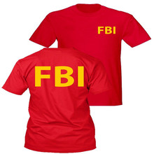 FBI T-shirt Agent Secret Service Police CIA Staff Women Men Casual T shirt Front&Back Letter Print Summer Top Tee Shirt T-F11501