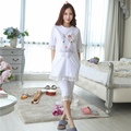Trendy Summer Maternity Clothes for Pregnant Women Breastfeeding Clothing Comfy Maternity Pajamas Set Nursing Clothes Size