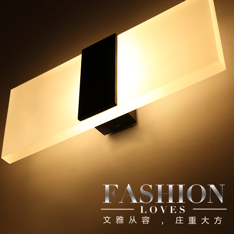 Personalized stair led ofhead brief acrylic brief modern wall lamp