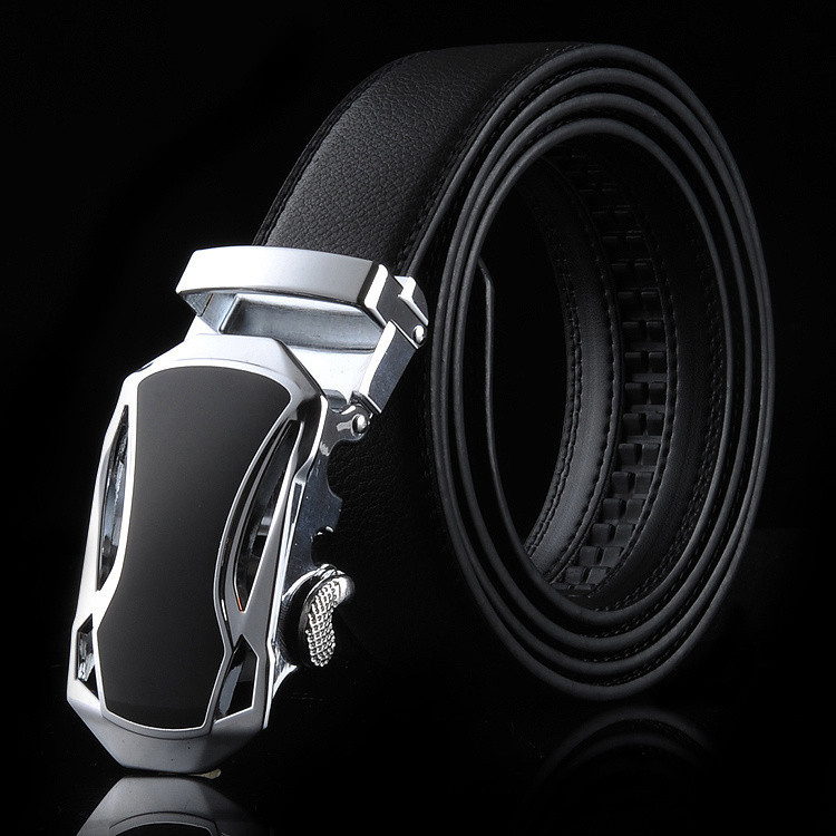 2015 Sports car head Automatic buckle belts Leather men belt High quality sports car belts for men(China (Mainland))