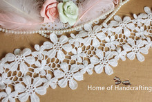 Buy 11cm wide (7YARDS/lot) White Venise Lace Trim Embroidery Lace Bridal, Millinery, Wedding Gowns, Costume design for $9.80 in AliExpress store