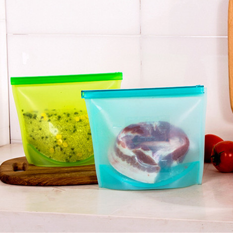 JJ267 Silicone Fresh Bags Home Food Sealing Storage bag Organization kitchen Gadgets cooking tools Accessories Supplies Products(China (Mainland))