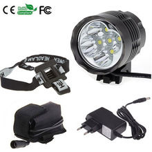 Headlight & Bicycle Light 7000 Lumen 5x CREE XM-L T6 LED Bike Light Lamp Headlamp+ 8.4V 6400mAh Battery Pack +Charger+headband