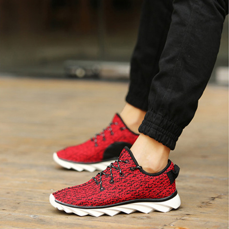 2016 Brand Men Shoes Spring Summer Breathable Mesh Outdoor Causal Shoes Fashion Print Flat Men Leisure Shoe Zapatos(China (Mainland))