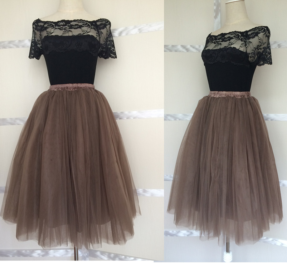 Wonderful Palest Champagne Tulle Skirt For Women Wide Matching Satin Ribbon