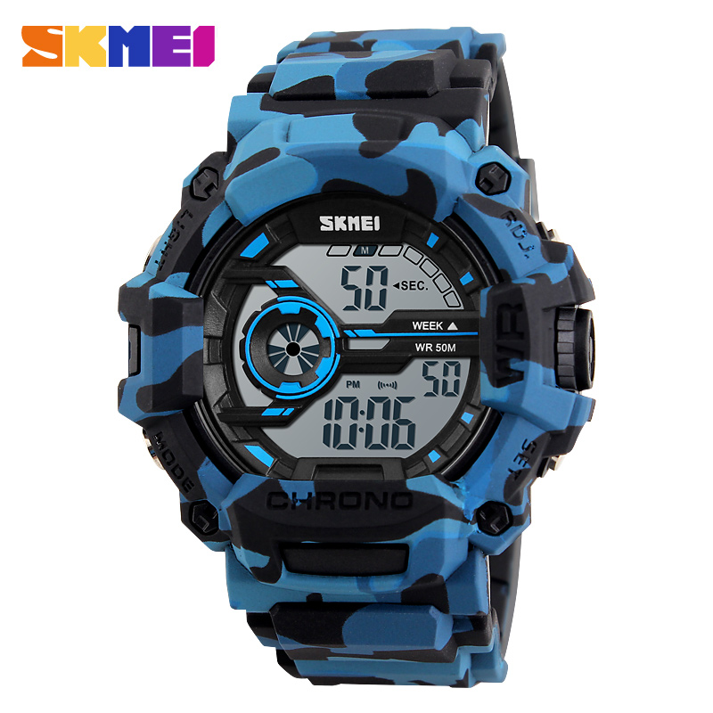 online buy whole skmei watch men led military green from skmei camo blue sport watches for men fashion brand men watch chronograph army digital wristwatch military