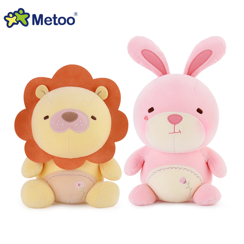 Original Metoo high quality plush cuddly toys Panda,rabbit,teddy bear,lion soft stuffed dolls for girls and boys baby toys gifts(China (Mainland))