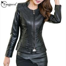 Women Jacket 2016 Autumn Winter Fashion Plus Size Leather Orange Black Short Motorcycle PU Leather Ladies Sexy Coat WWP100(China (Mainland))