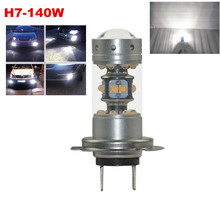 Extremely Bright 1200LM 140W LED Bulbs Projector Low Beam Fog Lights Daytime Running DRL Driving H7 6000K Xenon White - yobuyyowin Green City Store store